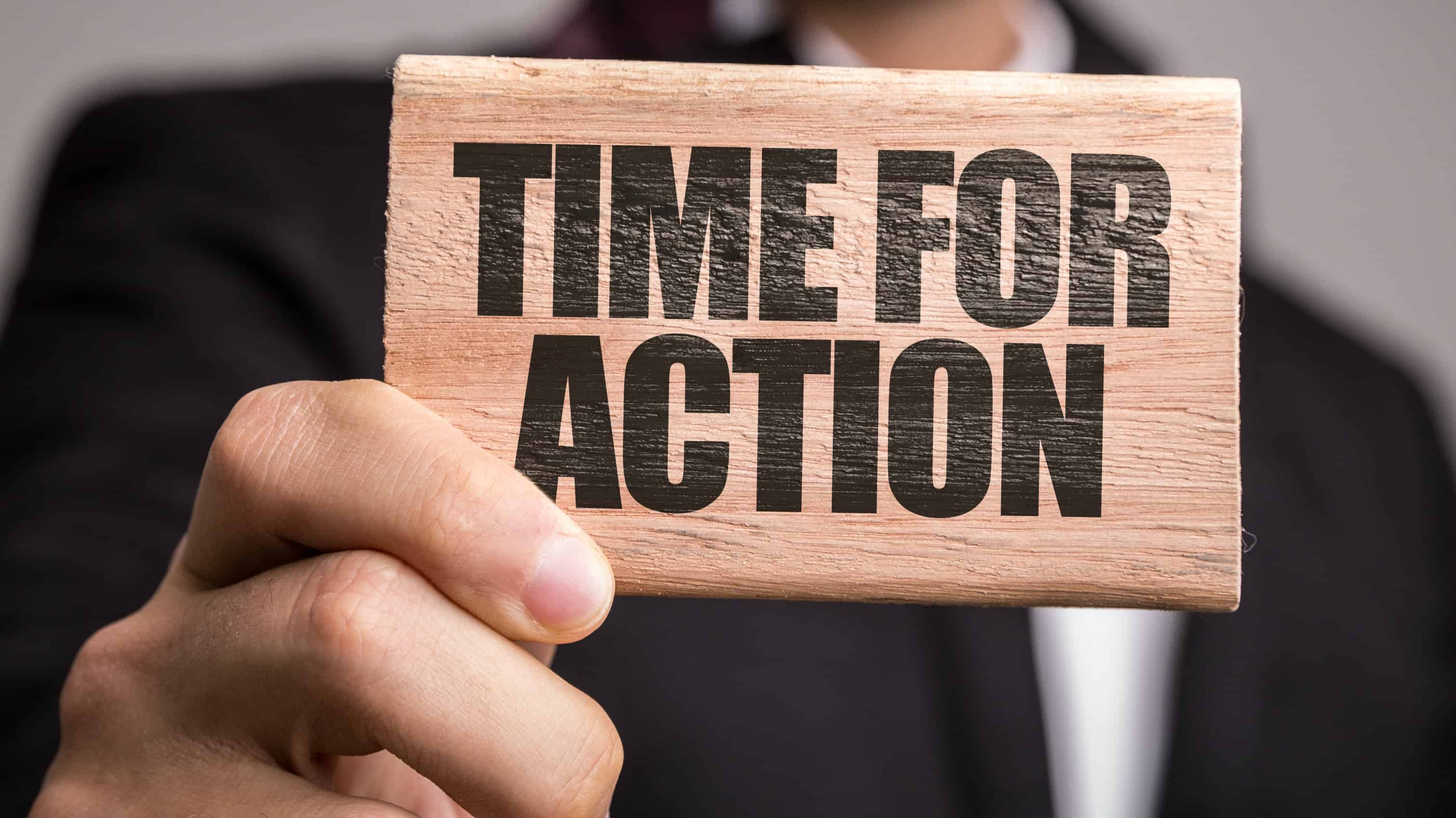 time for action, campaign, take a stand