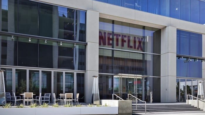 Outside view of Netflix head office